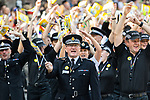© Joel Goodman - 07973 332324 . 26/08/2017. Manchester , UK. GMP Chief Constable IAN HOPKINS singing along to YMCA at the 2017 Pride parade through Manchester City Centre . The annual festival , which is the largest of its type in Europe , celebrates LGBT life . Photo credit : Joel Goodman