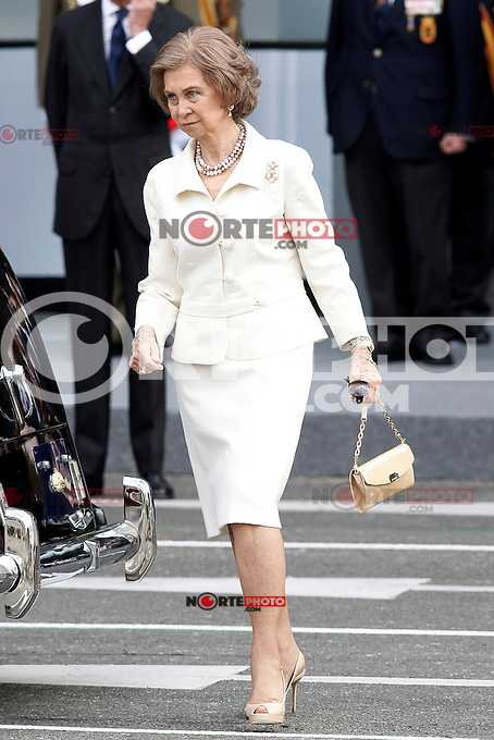 Sofia Queen of Spain attends the National Day Military Parad.October 12,2012.(ALTERPHOTOS/Acero) /NortePhotoAgency