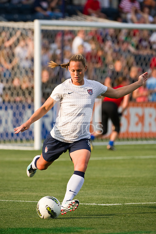 Christie Rampone (3) of the United States (USA). The United States (USA) women defeated China PR (CHN) 4-1 during an international friendly at PPL Park in Chester, PA, on May 27, 2012.