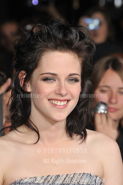 "Kristen Stewart at the world premiere of her new movie ""The Twilight Saga: New Moon"" at Mann Village & Bruin Theatres, Westwood..November 16, 2009  Los Angeles, CA.Picture: Paul Smith / Featureflash"