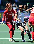 The Hague, Netherlands, June 13: Lisa Altenburg #18 of Germany gestures during the field hockey placement match (Women - Place 7th/8th) between Korea and Germany on June 13, 2014 during the World Cup 2014 at Kyocera Stadium in The Hague, Netherlands. Final score 4-2 (2-0)  (Photo by Dirk Markgraf / www.265-images.com) *** Local caption ***