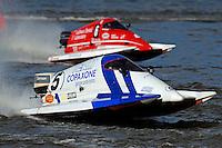 Ruben Ascencio (#5) and Bud Nollman (#6). SST-45 class.Bay City River Roar, Bay City,Michigan USA.26-2821 June, 2009..©F. Peirce Williams 2009 USA.F.Peirce Williams.photography.ref: RAW (.NEF) File Available