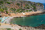 Afrata Beach, Crete.  Afrata is a small village located 3.5km north of Kolymbari and 28km west of Chania, at Cape Rodopos.