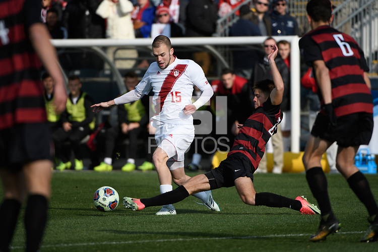 Chester, PA - Sunday December 10, 2017: Andrew Gutman Stanford University defeated Indiana University 1-0 in double overtime during the NCAA 2017 Men's College Cup championship match at Talen Energy Stadium.