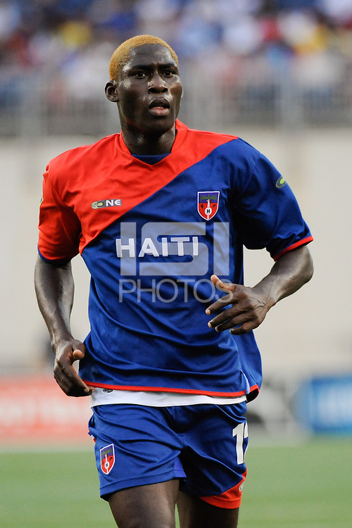 James Marcelin (12) of Haiti (HAI). The United States and Haiti played to a 2-2 tie during a CONCACAF Gold Cup Group B group stage match at Gillette Stadium in Foxborough, MA, on July 11, 2009. .