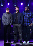 Michael Cera, Chris Evans and Brian Tyree Henry during the Second Stage Theater Broadway lights up the Hayes Theatre at the Hayes Theatre on February 5, 2018 in New York City.