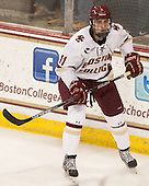 Chris Calnan (BC - 11) - The Boston College Eagles defeated the visiting University of Connecticut Huskies 3-2 on Saturday, January 24, 2015, at Kelley Rink in Conte Forum in Chestnut Hill, Massachusetts.