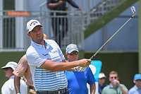 Marc Leishman (AUS) watches his tee shot on 10 during round 3 of the AT&amp;T Byron Nelson, Trinity Forest Golf Club, at Dallas, Texas, USA. 5/19/2018.<br /> Picture: Golffile | Ken Murray<br /> <br /> <br /> All photo usage must carry mandatory copyright credit (&copy; Golffile | Ken Murray)