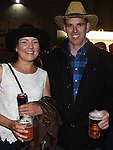 Aidan Byrne and Belinda Cahill pictured at the barn dance at Oberstown farm. Photo:Colin Bell/pressphotos.ie