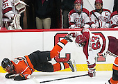 Ben Foster (Princeton - 22), Colin Blackwell (Harvard - 63) - The Harvard University Crimson defeated the visiting Princeton University Tigers 5-0 on Harvard's senior night on Saturday, February 28, 2015, at Bright-Landry Hockey Center in Boston, Massachusetts.