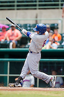 Midland RockHounds second baseman Colin Walsh (6) swings the bat during the Texas League baseball game against the San Antonio Missions on June 28, 2015 at Nelson Wolff Stadium in San Antonio, Texas. The Missions defeated the RockHounds 7-2. (Andrew Woolley/Four Seam Images)