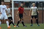 10 September 2016: Referee Chris Penso (center). The Wake Forest University Demon Deacons hosted the University of Virginia Cavaliers in a 2016 NCAA Division I Men's Soccer match. Wake Forest won the game 1-0 in sudden death overtime.