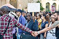 Roma 19 Ottobre 2013<br /> Manifestazione dei movimenti antagonisti, NO MUOS, No Tav, movimenti per la casa  contro il governo dell'austerit&agrave;. <br /> Rome October 19, 2013<br /> Manifestation of radical movements, NO MUOS, No Tav, movements for the house against the government austerity.