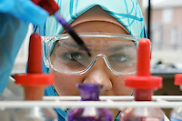 Science Student in the laboratory