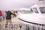 John Pierce CEO of The South Kerry Development Partnership made sure that there was going to be no second take for the christening of the 'Cyclone 30' which was named 'Discovery' at  its launch in Knightstown on Friday.....Ref: Sinead