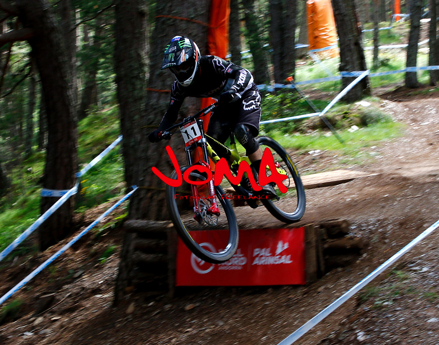 Connor Fearon (AUS)Downhill training sesion, UCI, Moutain Bike World Cup , Vallnord Andorra. 12/07/2018