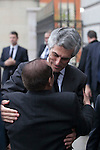 Adolfo Suarez Illana arrives to the state funeral for former Spanish prime minister Adolfo Suarez at the Almudena Cathedral in Madrid, Spain. March 31, 2014. (ALTERPHOTOS/Victor Blanco)