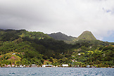 FRENCH POLYNESIA, Raiatea Island. View of the island from the water.