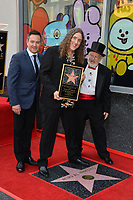 LOS ANGELES, CA. August 27, 2018: Thomas Lennon, Weird Al Yankovic & Dr. Demento at the Hollywood Walk of Fame Star Ceremony honoring 'Weird Al' Yankovic.