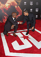 LOS ANGELES, CA - NOVEMBER 13: Joe Morton, Ray Fisher, at the Justice League film Premiere on November 13, 2017 at the Dolby Theatre in Los Angeles, California. Credit: Faye Sadou/MediaPunch /NortePhoto.com