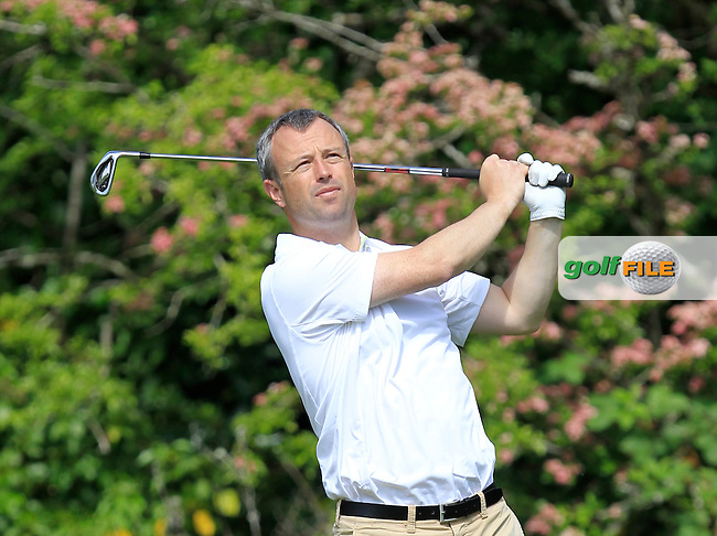 Lewy Halpin Jnr (Shannon) on the 2nd tee during Round 1 of the Irish Mid-Amateur Open Championship at New Forest on Saturday 20th June 2015.<br /> Picture:  Thos Caffrey / www.golffile.ie