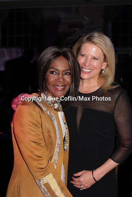 Tina Lundgren and Cicely Tyson at The 11th Annual Skating with the Stars Gala - a benefit gala for Figure Skating in Harlem - honoring Cicely Tyson (film, tv and stage actress and was on The Guiding Lignt) on April 11, 2016 on Park Avenue in New York City, New York with many Olympic Skaters and Celebrities. (Photo by Sue Coflin/Max Photos)