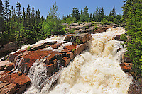 Chutes de la rivière Papinachois<br /> North Shore of St. Lawrence. Côtes-Nord. Manicouagan<br /> Quebec<br /> Canada