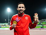 Lima, Peru -  24/August/2019 -  Guillaume Ouellet takes the gold in the men's 1500m T13 final at the Parapan Am Games in Lima, Peru. Photo: Dave Holland/Canadian Paralympic Committee.