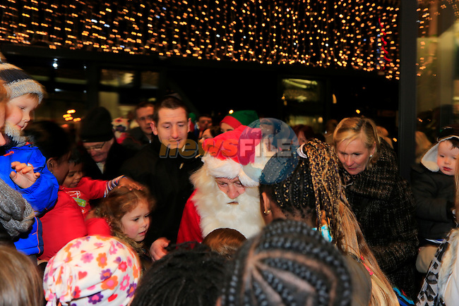 santa arriving at scotch hall.<br /> Picture: Fran Caffrey www.newsfile.ie