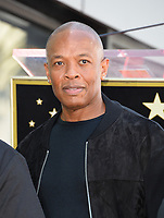 Dr. Dre at the Hollywood Walk of Fame star ceremony honoring actor/musician Ice Cube, Los Angeles, USA 12 June  2017<br /> Picture: Paul Smith/Featureflash/SilverHub 0208 004 5359 sales@silverhubmedia.com