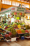 VIETNAM, Saigon, Ben Thanh Market, fruit and vegetables are piled to perfection at this market stand, Ho Chi Minh City