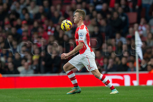 01.11.2014.  London, England. Premier League. Arsenal versus Burnley. Defender Calum Chambers of Arsenal