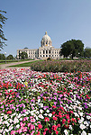 Minnesota, Twin Cities, Minneapolis-Saint Paul: The State Capitol Building in St. Paul, a large dome made of white marble..Photo mnqual310-75032..Photo copyright Lee Foster, www.fostertravel.com, 510-549-2202, lee@fostertravel.com.