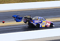 Sep 15, 2013; Charlotte, NC, USA; NHRA funny car driver Ron Capps during the Carolina Nationals at zMax Dragway. Mandatory Credit: Mark J. Rebilas-
