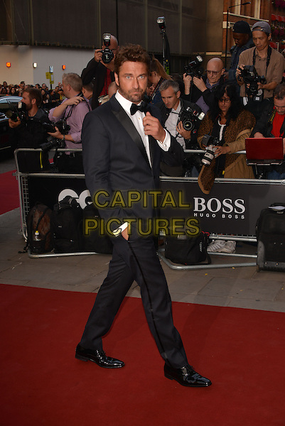 LONDON, ENGLAND SEPTEMBER 02:  Gerard Butler attends the GQ Men of the Year 2014 awards in association with Hugo Boss at The Royal Opera House on September 2, 2014 in London, England.<br /> CAP/PL<br /> &copy;Phil Loftus/Capital Pictures