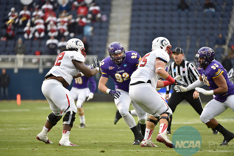 20 DEC 2014: Minnesota State-Mankato takes on Colorado State University Pueblo during the Division II Men's Football Championship held at Sporting Park in Kansas City, KS. CSU Pueblo defeated MSU Mankato 13-0 to win the national championship. Justin Tafoya/NCAA Photos