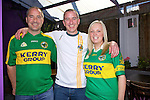 Damian Reed, Ciaran Reed, Sandra Bunyan getting ready to watch the all Ireland Final, Kerry V Donegal, on Sunday at the Greyhound Bar