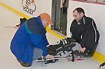Junior Devils sled hockey team
