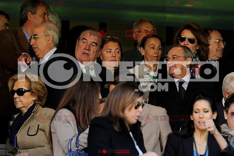 Real Madrid´s president Florentino Perez during 2014-15 La Liga match between Real Madrid and Granada at Santiago Bernabeu stadium in Madrid, Spain. April 05, 2015. (ALTERPHOTOS/Luis Fernandez) /NORTEphoto.com