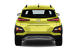 Straight rear view of a 2018 Hyundai Kona Limited DCT 5 Door SUV stock images
