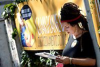"""Roma, 14 Settembre 2016.<br /> Marica Di Pierri dell'associazione A Sud.<br />  Presentazione della Campagna di informazione, denuncia, mobilitazione e pressione istituzionale """"Guardiane della Terra – La salute delle donne è il futuro del Pianeta"""" per chiedere che la prevenzione primaria, la tutela del territorio e il coinvolgimento della cittadinanza nelle decisioni riguardanti politiche impattanti dal punto di vista ambientale siano gli assi portanti delle politiche pubbliche in materia ambientale e sanitaria."""