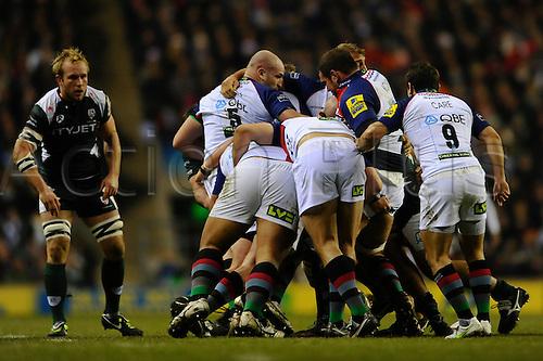 27.12.2010 Aviva Premiership Rugby from Twickenham. Harlequins v London Irish. Maul in the first half