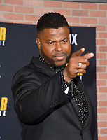 """LOS ANGELES, CA: 27, 2020: Winston Duke at the world premiere of """"Spenser Confidential"""" at the Regency Village Theatre.<br /> Picture: Paul Smith/Featureflash"""