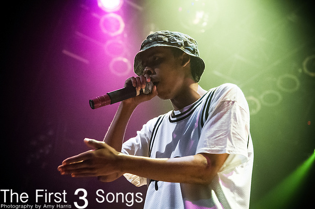 Earl Sweatshirt (Thebe Neruda Kgositsile) performs at the House of Blues in Cleveland, Ohio.
