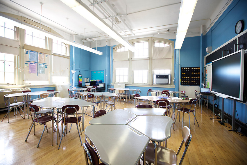 BROOKLYN, NY - May 15, 2017: Millennium High School in Park Slope.<br /> <br /> Credit: Clay Williams for ASD NEST.<br /> <br /> &copy; Clay Williams / http://claywilliamsphoto.com
