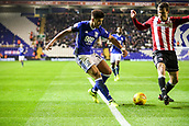 1st November 2017, St. Andrews Stadium, Birmingham, England; EFL Championship football, Birmingham City versus Brentford; Che Adams of Birmingham City hits a low pass into the box