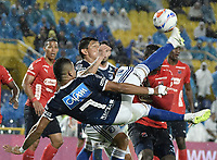 BOGOTA - COLOMBIA, 04-08-2018: Ayron del Valle jugador de Millonarios en acción durante el encuentro entre Millonarios y Deportivo Independiente Medellin por la fecha 3 de la Liga Águila II 2018 jugado en el estadio Nemesio Camacho El Campin de la ciudad de Bogotá. / Ayron del Valle player of Millonarios in action during the match between Millonarios and Deportivo Independiente Medellin for the date 3 of the Liga Aguila II 2018 played at the Nemesio Camacho El Campin Stadium in Bogota city. Photo: VizzorImage / Gabriel Aponte / Staff.