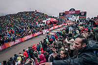 Chris Froome (GBR/SKY) winning up the infamous Monte Zoncolan (1735m/11%/10km) <br /> <br /> stage 14 San Vito al Tagliamento &ndash; Monte Zoncolan (186 km)<br /> 101th Giro d'Italia 2018