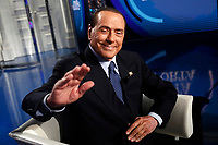 Silvio Berlusconi <br /> Rome February 14th 2019. Silvio Berlusconi appears as a guest on the Tv show Porta a Porta.<br /> Foto Samantha Zucchi Insidefoto