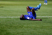 Michael Folivi of AFC Wimbledon during the The Leasing.com Trophy match between AFC Wimbledon and Leyton Orient at the Cherry Red Records Stadium, Kingston, England on 8 October 2019. Photo by Carlton Myrie / PRiME Media Images.